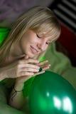 Muchacha con el globo Fotografía de archivo