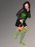Muchacha con el juguete Fotografía de archivo libre de regalías