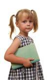 Muchacha con el libro Imagen de archivo libre de regalías