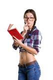 Muchacha con el libro Imagenes de archivo