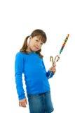 Muchacha con el lollipop Fotografía de archivo libre de regalías