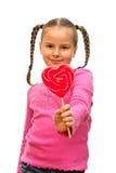 Muchacha con el lollipop. Imagen de archivo libre de regalías