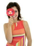 Muchacha con el lollipop Foto de archivo