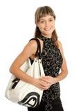 Muchacha con el monedero Imagen de archivo libre de regalías