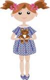 Muchacha con el oso Imágenes de archivo libres de regalías