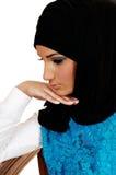 Muchacha con el pañuelo. Imagen de archivo libre de regalías