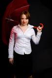 Muchacha con el paraguas Fotos de archivo libres de regalías