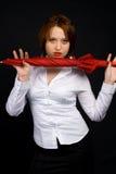Muchacha con el paraguas Imágenes de archivo libres de regalías