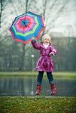 Muchacha con el paraguas Imagen de archivo