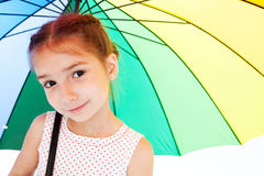 Muchacha con el paraguas Foto de archivo libre de regalías