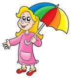 Muchacha con el paraguas libre illustration
