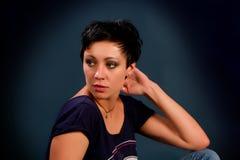 Muchacha con el pelo corto Fotos de archivo
