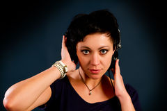 Muchacha con el pelo corto Foto de archivo libre de regalías