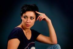 Muchacha con el pelo corto Fotografía de archivo libre de regalías
