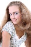 Muchacha con el pelo del vuelo Fotografía de archivo