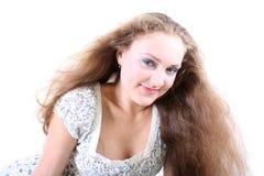 Muchacha con el pelo del vuelo Fotos de archivo libres de regalías