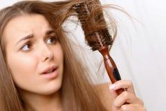 Muchacha con el pelo enmarañado Imagenes de archivo