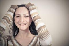 Muchacha con el pelo largo Fotos de archivo libres de regalías