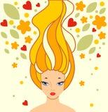 Muchacha con el pelo largo Fotos de archivo