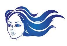 Muchacha con el pelo largo ilustración del vector