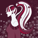 Muchacha con el pelo largo Imagen de archivo libre de regalías