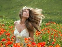 Muchacha con el pelo largo Fotografía de archivo libre de regalías