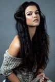 Muchacha con el pelo magnífico foto de archivo
