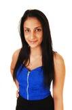 Muchacha con el pelo negro largo. Imágenes de archivo libres de regalías