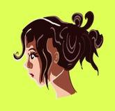 Muchacha con el pelo para arriba Fotografía de archivo
