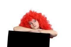 Muchacha con el pelo rojo. Fotos de archivo libres de regalías
