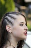 Muchacha con el pelo trenzado Fotos de archivo