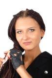 Muchacha con el pelo trenzado Foto de archivo libre de regalías