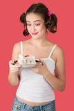 Muchacha con el postre Imagen de archivo libre de regalías
