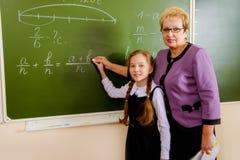Muchacha con el profesor imágenes de archivo libres de regalías