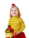 Muchacha con el rectángulo Foto de archivo libre de regalías