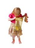Muchacha con el regalo Fotos de archivo