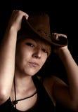 Muchacha con el sombrero Imagenes de archivo