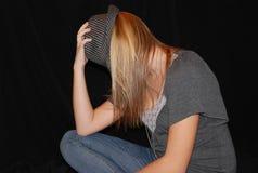 Muchacha con el sombrero Imagen de archivo