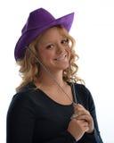Muchacha con el sombrero de vaquero Imagen de archivo