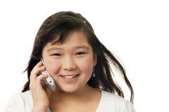 Muchacha con el teléfono. Fotos de archivo libres de regalías