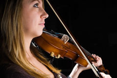 Muchacha con el violín Imagen de archivo