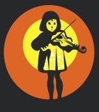 Muchacha con el violín Imágenes de archivo libres de regalías