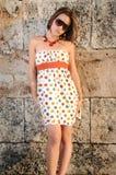 Muchacha con estilo de la manera del verano Foto de archivo libre de regalías