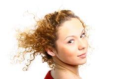 Muchacha con estilo del pelo Foto de archivo libre de regalías