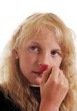 Muchacha con la baya. Imagen de archivo libre de regalías