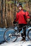 Muchacha con la bici Fotografía de archivo libre de regalías