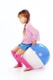 Muchacha con la bola Foto de archivo libre de regalías