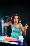 Muchacha con la bola del jabón Imagen de archivo libre de regalías