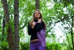 Muchacha con la bufanda Fotografía de archivo libre de regalías