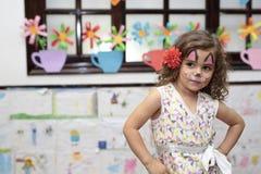 Muchacha con la cara pintada Imágenes de archivo libres de regalías